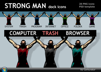 Strong Man dock icons by Carburator
