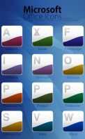 Microsoft Office Dock Icons by gorganzola1