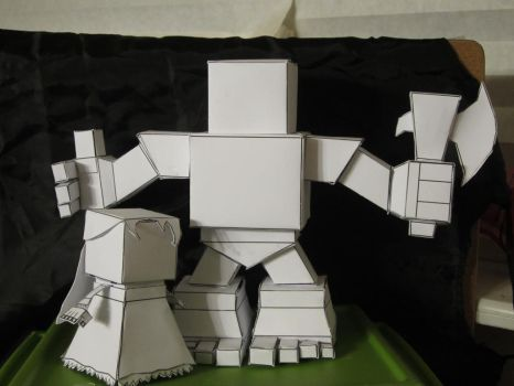 The Great Child and Dire Mother Papertoy WIP by WrxStv