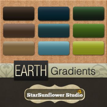 Photoshop Gradients - Earth 1 by starsunflowerstudio