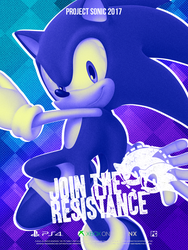 Sonic Resistance: Modern Poster by NathanLaurindo