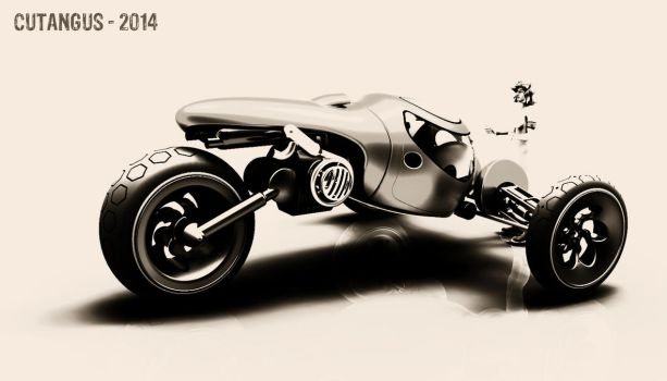 TRIKE IN GREY by CUTANGUS