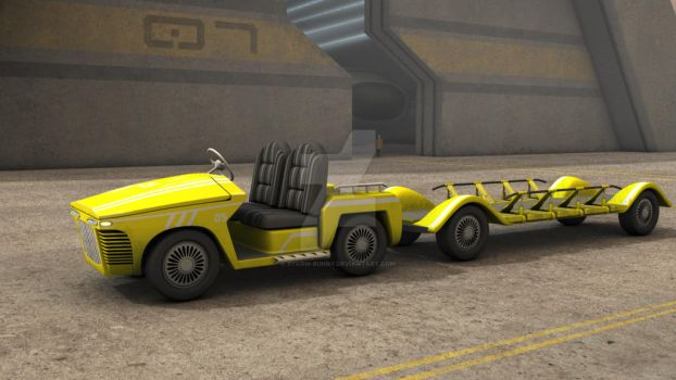Airport Cargo Vehicle by storm-bunny
