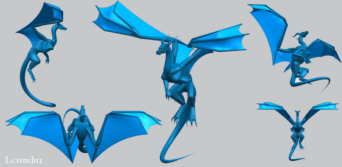 3D dragon by Leundra