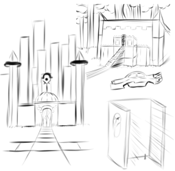 5.23.17 Background Sketches by shadowlord19
