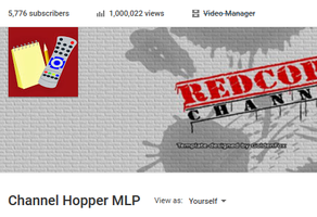 Channel Hopper 1 million views by Red-Cord-Player
