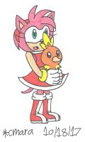 Amy and Torchic by cmara