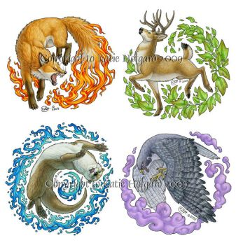 Elemental Animals by KatieHofgard