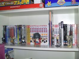 My manga collection: Shelf 1 by just-Abigail