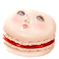 Vanilla Blood Rose Macaroon by Rosemoji