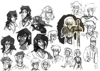 Character Sketches FOR SCIENCE by Assassin-or-Shadow