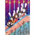 poster of plutonic rabbits by HufeArt