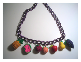 Fruity Explosion Necklace by chat-noir