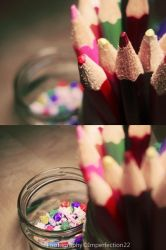 Crayons and paper stars by Imperfection22