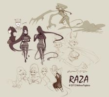 Raza - character concept sketch by DarkSunRose