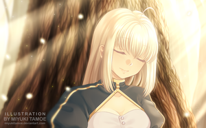 The last dream of Saber by miyukitamoe