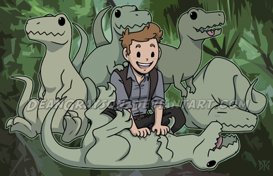 Jurassic Puppies by DeanGrayson