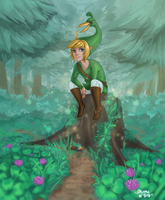 Link and Ezlo by MintyDinosaur