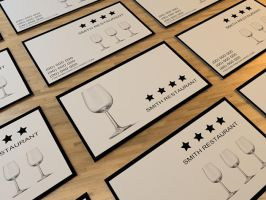 Restaurant Business Card by Freshbusinesscards