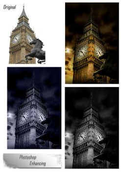 Big Ben Before and After by haz999