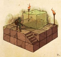 Dungeons and Dragons: Gelatinous Cube Attack by Deimos-Remus