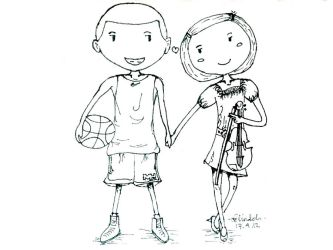 basketball and violin by belindch