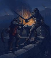 Fight at the Pyre by Pyrosity