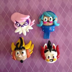 Chibi Heads - Mystery Skulls Group Shot by Dixxy