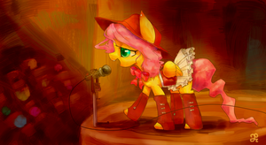 Fluttershy Sings by chung-sae