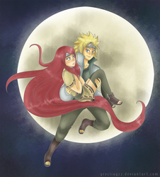 Minato and Kushina by greciiagzz