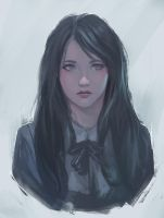 Doodle girl 8 / study by chaosringen