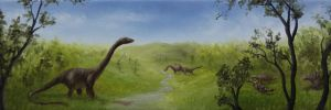 Dino Panorama by crazycolleeny