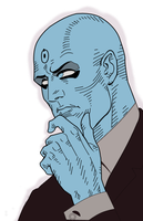 Dr. Manhattan is thinking by Sgt-Spankey