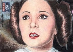 Star Wars G7 - Princess Leia Sketch Art Card 3 by DenaeFrazierStudios