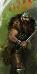 Barbarian in the Forest by Cristi-B