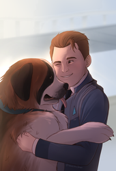 He likes dogs by IcelectricSpyro