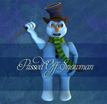 Pissed Off Snowman by Just-A-Little-Knotty