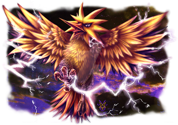 Commission - Zapdos by Rabenfeder