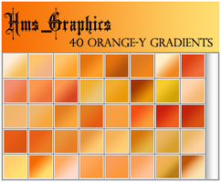 40 Orange-y Gradients by graphicdump