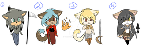 (CLOSED) Adoptables w/ Weapons!~ by VoidBurn