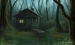 Swamp House speedpaint by Sicarius8