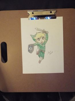 Free-Handed Link by PeddyPenguin