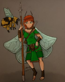 Pixie Adventurer and her companion by spectacles-ak