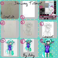 Drawing Tutorial  by cutelittlepikakitty
