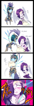 Morgana and Kalista by Skemaid