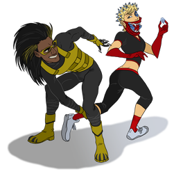 Lion Man and Cackler Commission by iesnoth