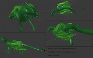 Pernese Dragon Hatchling Model by JadeRavenwing