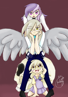 The Discordant Hooves Family by kiddysa-bunnpire