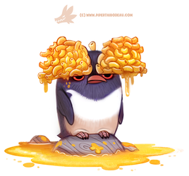 Daily Paint 1280. Macaroni Penguin by Cryptid-Creations