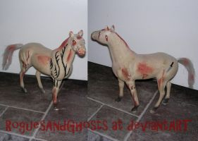 Tattooed zombie horse by RoguesAndGhosts